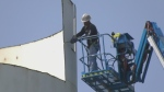 Work on old Delaware water tower continues