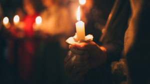 A candlelight vigil is seen in this undated stock image. (Shutterstock)