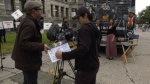 The 'We Love Film Too' campaign launched Wednesday at the B.C. legislature, Jul 10, 2019. (CTV Vancouver Island)