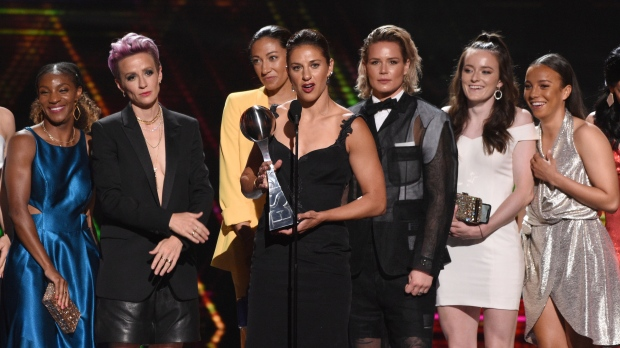 U.S. women's soccer team at 2019 ESPY Awards
