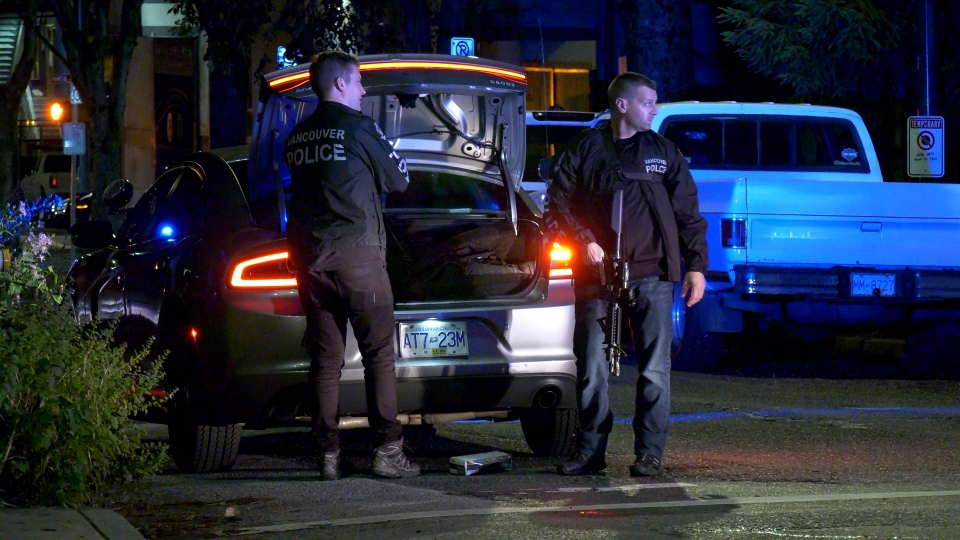 A heavy police presence was seen in Oppenheimer Park in the evening of Wednesday, July 10.