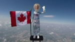 Raw: Astronaut Barbie takes journey to space