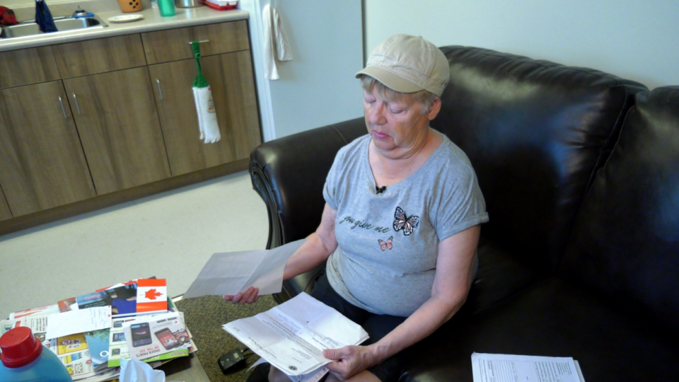Renee Tober, 66, said she is being billed for outstanding rent after being undercharged. CTV photo/Josh Crabb