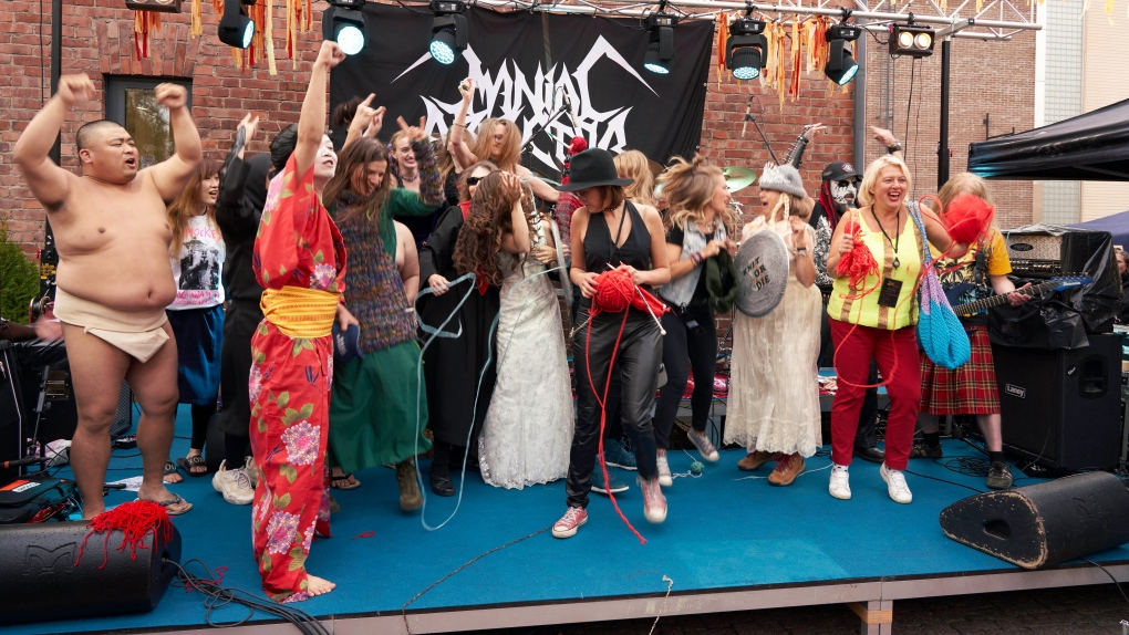 Heavy Metal Knitting World Championship in Finland