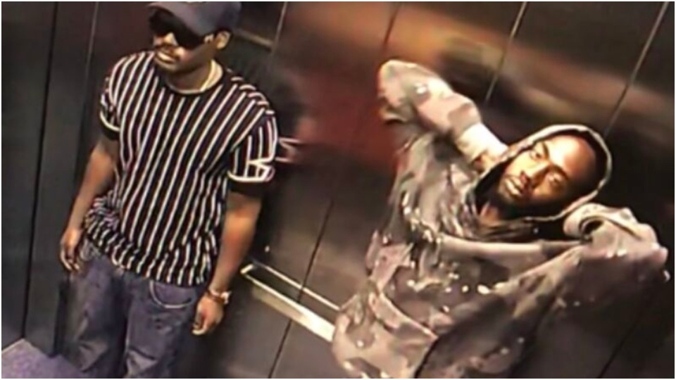 Two suspects wanted in connection with an alleged robbery and sexual assault in the Bathurst and King streets area are pictured. (Handout /Toronto Police)