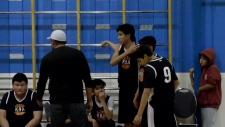 Undated image of Kainai Basketball Association players