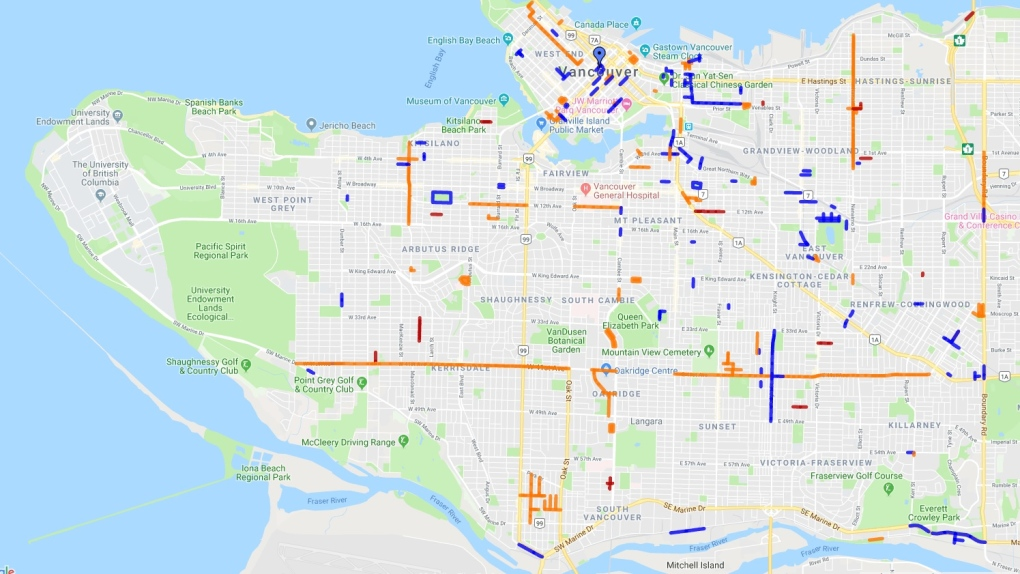 City of Vancouver traffic alerts