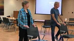 David Reid, 67, takes part in a 12-week Falls Prevention Program at the Toronto Rehabilitation Institute.