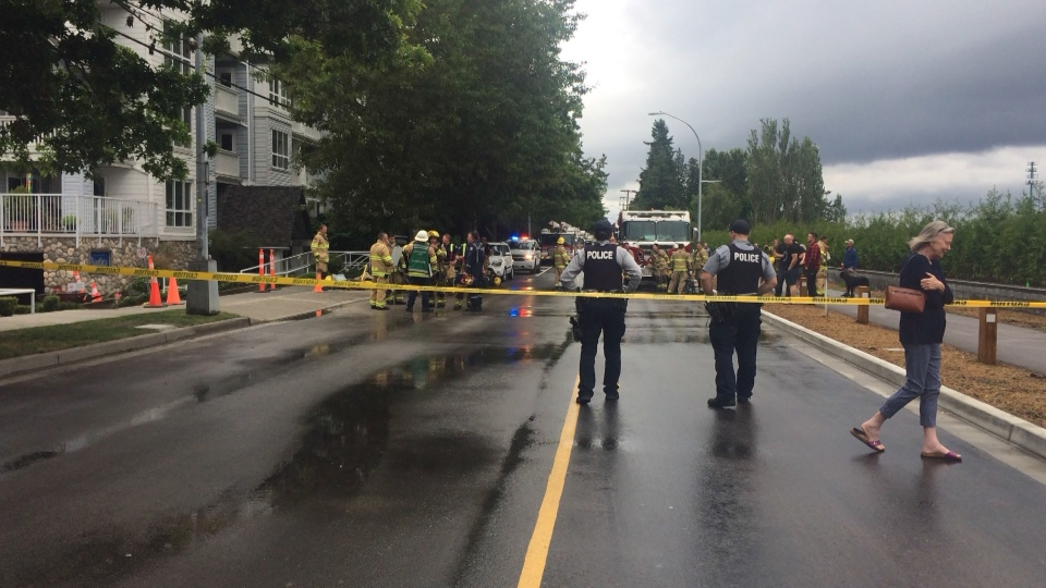 An investigation into an explosion at a Steveston apartment building is expanding.