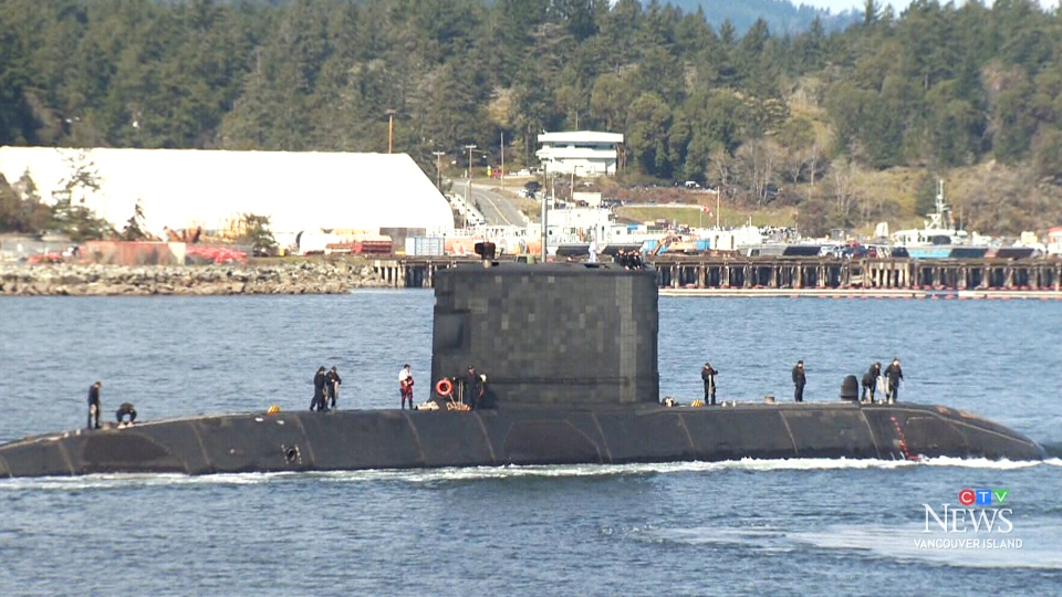 HMCS Chicoutimi returns to port at CFB Esquimalt after a 197-day deployment in 2018. (CTV Vancouver Island)