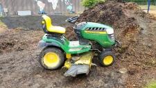 Saanich police investigate lawnmower joyride