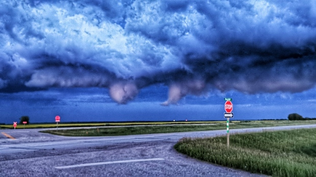 Scud clouds