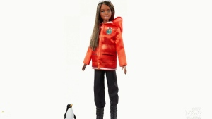 This is what the Polar Marine Biologist Barbie will look like. The real life role models were not intended to serve as the likeness of the dolls, but to put a face to the career outside of the doll. (Mattel)