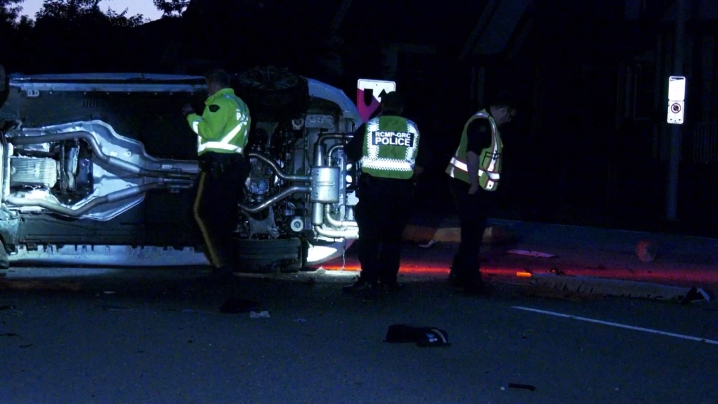Surrey streets closed after major collision