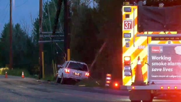 Spruce Meadows Way crash