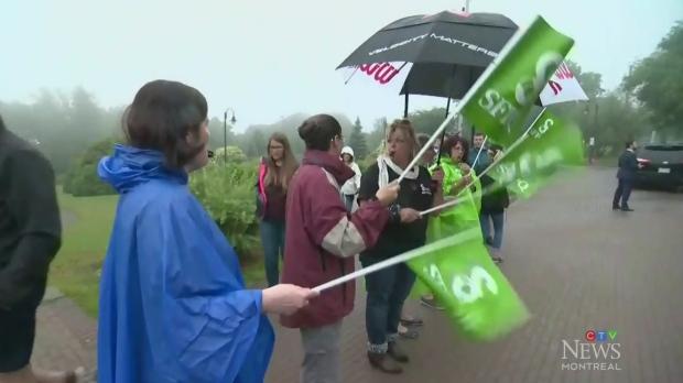 Park workers walk off job