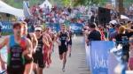 File photo: Athletes compete in the 2019 ITU World Triathlon Edmonton.
