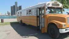 School bus tiny home