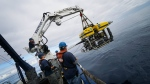 A crew explored Pacific seamounts in 2018 off B.C.'s coast. (Shelton Du Preez, Fisheries and Oceans Canada/Facebook)