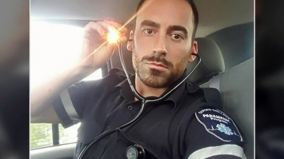 Kendall Waite seen in his paramedic uniform. (Source: Cristina Arsene)