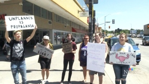 Protest at controversial movie screening