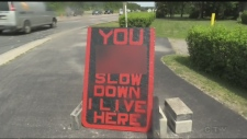 Sault homeowner fed up with speeders posts sign