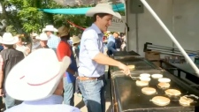Prime Minister Justin Trudeau Stampede breakfast