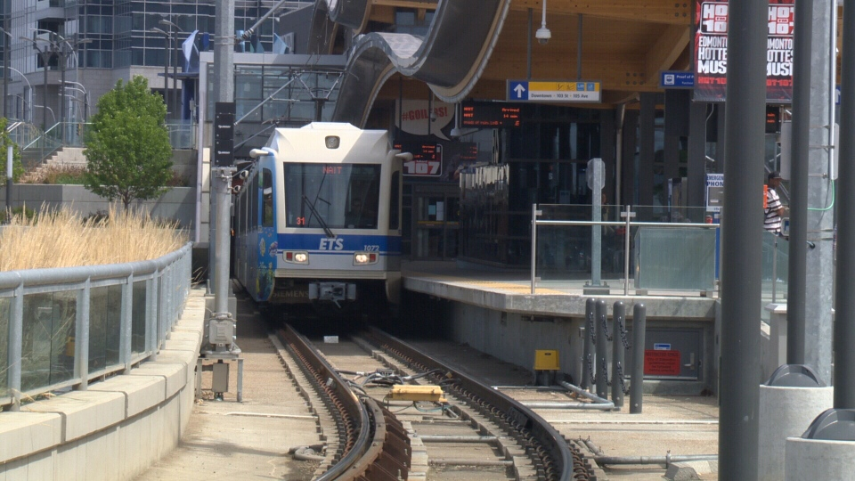 Edmonton LRT system includes 18 stations on two different lines for a total of 24 kilometres of track, more than double Ottawa's current distance