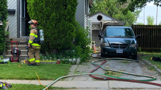 Firefighters were called to a blaze on Riberdy Rd.