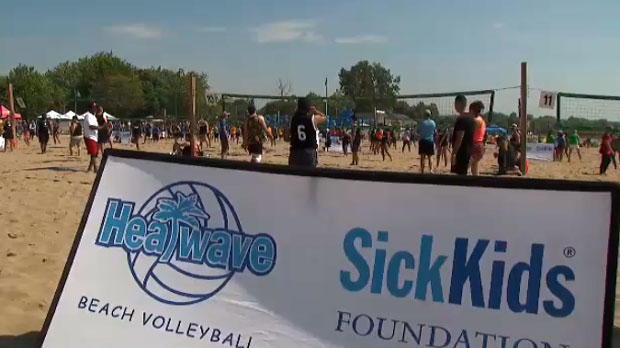 More than 200 teams competed in this year's SickKids Heatwave volleyball tournament on July 13, 2019.