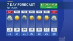 The full, local weather forecast from CTV Ottawa's