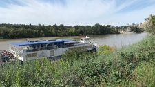 Edmonton Riverboat stranded Sunday