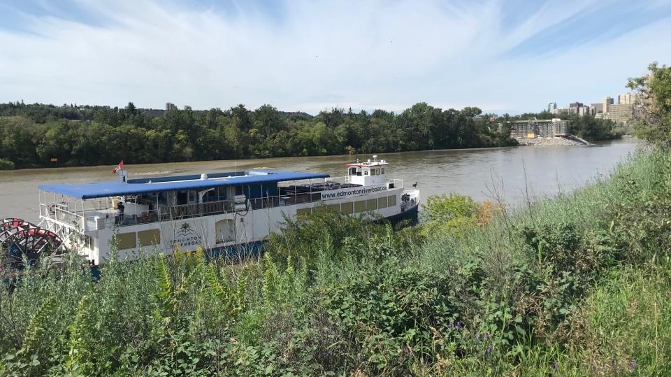 Edmonton Riverboat stranded Sunday