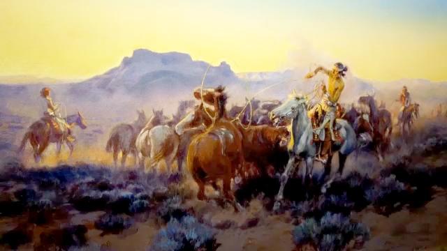 Charlie Russell paintings on display at Calgary Stampede