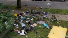 Bidwell apartment debris