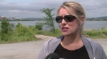 Dog swimming in the St. John River began to vomit soon after.