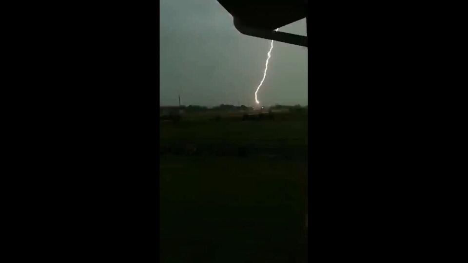Lightning bolt shot by Lynne Payne near Stettler