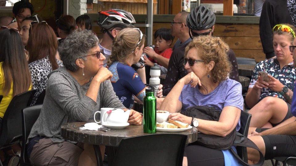 Hundreds, if not thousands, flock to the tiny Village of Deep Cove each day in the summer. (CTV)