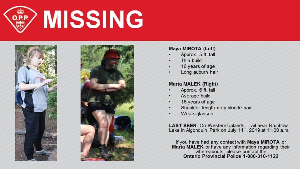 Missing teens in Algonquin Park found