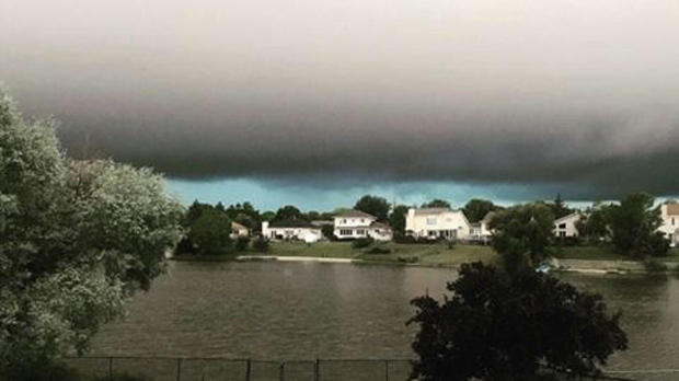 This photo was taken in Transcona just before a thunderstorm shook Winnipeg on July 15. Facebook photo/Jackie Gate McCreedy