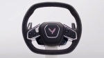 The steering wheel of the new Chevrolet Corvette C8. (Courtesy of Chevrolet)