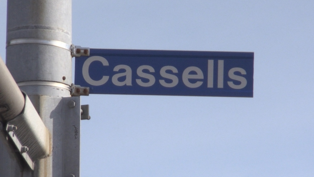 Cassells Street sign in North Bay