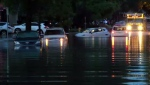 A severe thunderstorm overnight Saturday caused flash flooding on Early Drive.