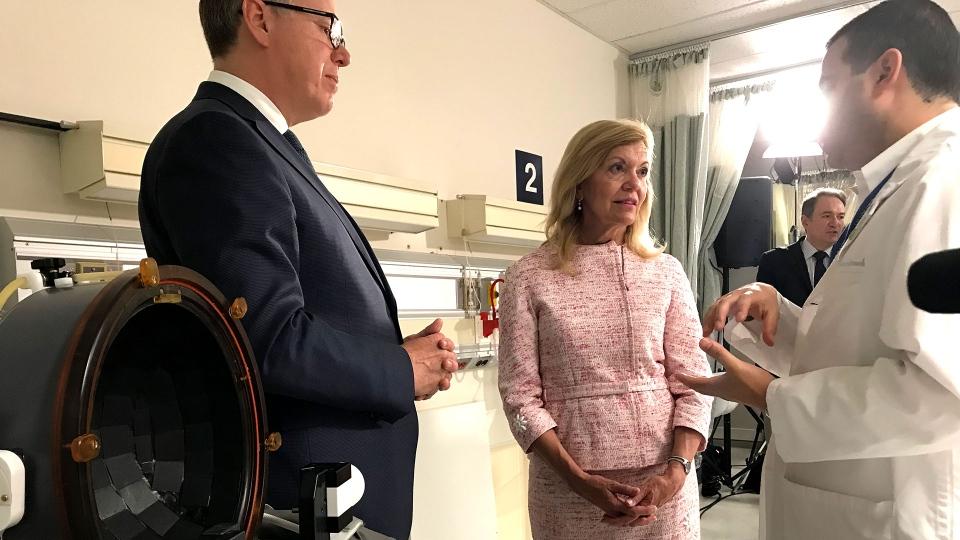Health Minister Christine Elliott is seen speaking on July 15, 2019. (CTV News Toronto / Pauline Chan)