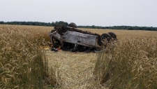One man has died after a single-vehicle crash near Ottersville, Ont. on Tuesday, July 9, 2019. (@OPP_WR / Twitter)