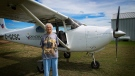 Wilda O'Brien celebrated her 90th birthday by going parachuting. (Slavomir Kutas/CTV Saskatoon)