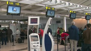 Air travellers react to new protections