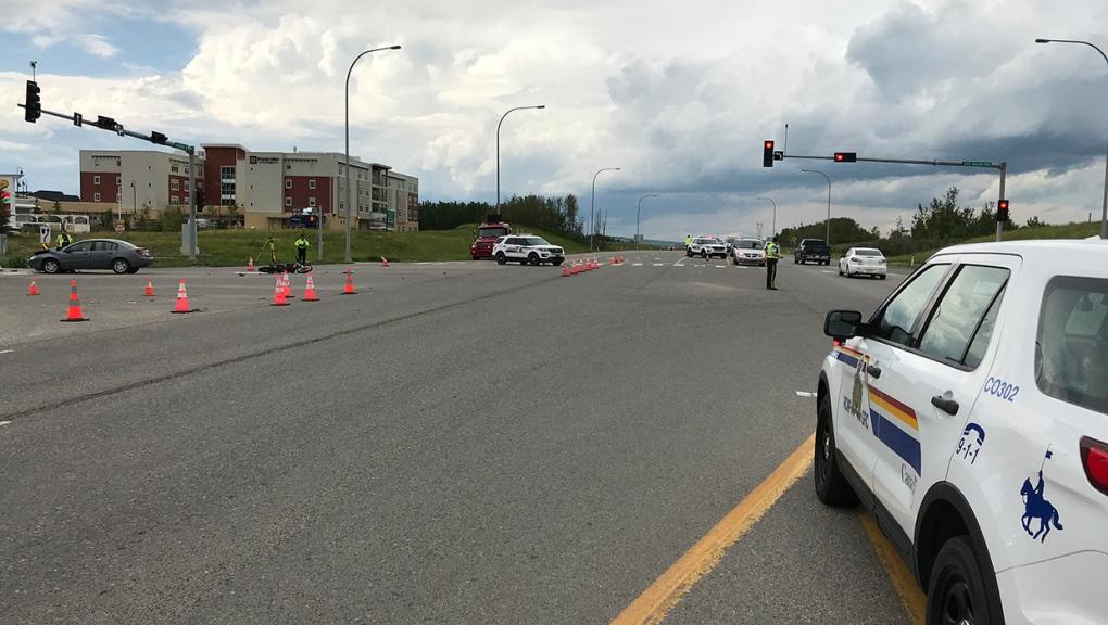 Highway 22, motorcycle, crash, Cochrane