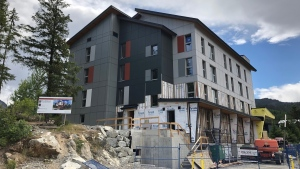 A new 24-unit affordable housing project is being built in Whistler.