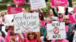 FILE - In this May 21, 2019 file photo, people rally in support of abortion rights at the state Capitol in Sacramento, Calif. (AP Photo/Rich Pedroncelli, File)